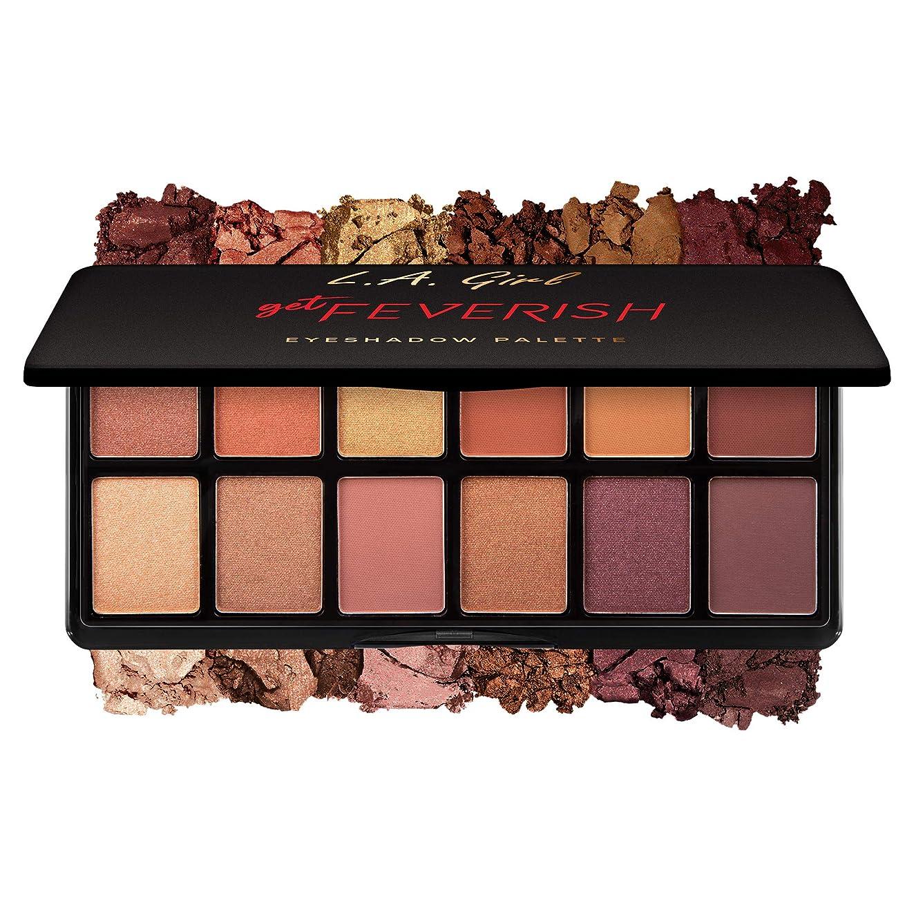 地味な支払う退屈なL.A. GIRL Fanatic Eyeshadow Palette - Get Feverish (並行輸入品)