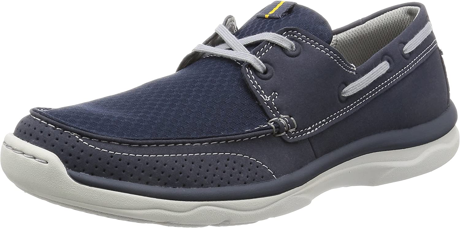 Clarks Marus Edge - Navy (Textile) Mens Trainers