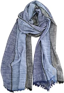 GERINLY Color Block Summer Scarf for Men Long Neck Wraps Shawl Urbanstyle Scarf Gift for Men