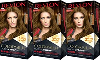 Revlon Colorsilk Buttercream Hair Dye, Dark Beige Blonde, Pack of 3