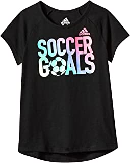 adidas Kids - Goals Raglan Tee (Big Kids)