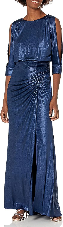 Time sale Adrianna Papell Ranking TOP7 Women's Metallic Draped Blouson Gown