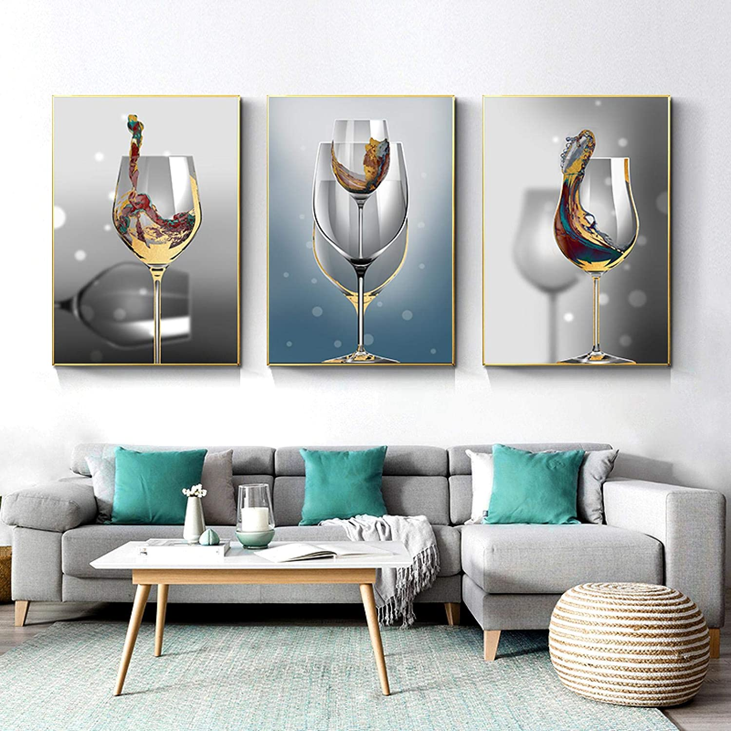 Sunsightly Print on Canvas Modern Glass Bombing free shipping Cheap SALE Start Art Wine Abstract