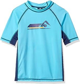 Kanu Surf Boy's Echelon UPF 50+ Sun Protective Rashguard Swim Shirt Rash Guard Shirt