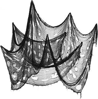 GARNECK Lot de 3 tissus d'Halloween, pour Halloween, tissu épais, tissu d'entraînement, tissu épais, décoration d'Hallowee...