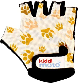 Kiddimoto Kids Fingerless Cycling Gloves for Girls & Boys Bicycle, Balance Bike, Scooter, and Skateboard