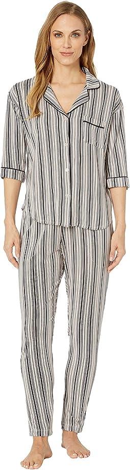 Notch Collar Pajama Set