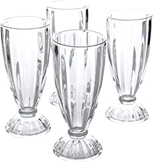 General Store by Gibson 82887.04RM Gibson Home General Store 4 Pack 12 oz Milk Shake, Clear Embossed Glass