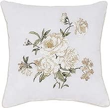 Nostalgia Home Juliette Embroidered Decorative Pillow, 16 Square, White Floral