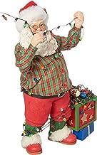 Department 56 Possible Dreams Santa's Christmas Lights Figurine, Multicolor