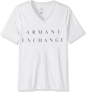 A|X Armani Exchange Men's V Neck Cotton Logo Shirt