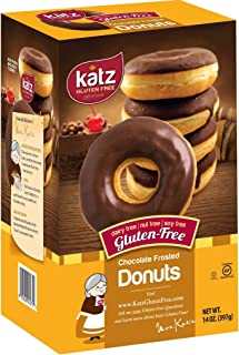 Katz Gluten Free Chocolate Frosted Donuts   Dairy Free, Nut Free, Soy Free, Gluten Free   Kosher (1 Pack of 6 Donuts, 14 Ounce)