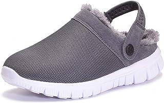 Sponsored Ad - KVbabby Winter Slippers Boys Girls Lined Clog Kids Plush Warm Slippers Soft Garden Shoes Non-Slip Bedroom I...