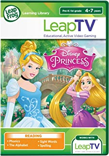 LeapFrog LeapTV: Disney Princess: Cinderella and Rapunzel Educational, Active Video Game