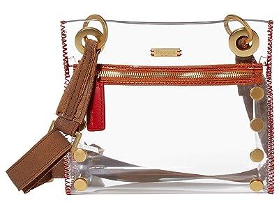 Hammitt Tony Small (Clear/Brushed Gold) Cross Body Handbags