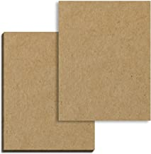 40 Sheets, Brown Kraft Cardstock, 300 GSM (110 lb. Cover) 8.5 x 11 inches