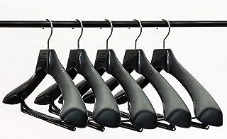 TOKYOHANGER 抗菌・消臭機能付きハンガー5本セット 効果実証済み【安心の日本製】滑り止め加工 型崩れ防止 高級仕立て 丈夫な作り『-SUMI-NO880練り込みタイプ L(43.5cm)』ジャケットハンガー スーツハンガー