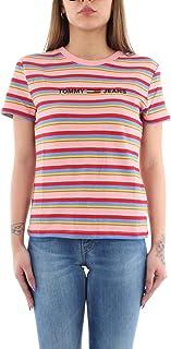 Tommy Hilfiger Women's TJW Linear Logo Stripe T-Shirt