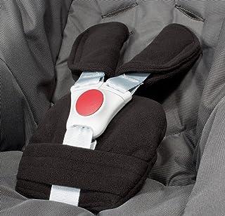 ByBoom - Gurtpolster Set - universal für Babyschale, Buggy, Kinderwagen, Autositz z.B. Maxi Cosi City SPS, Cabrio, Cybex Aton usw. In vielen Farben MADE IN EU, Farbe:Schwarz