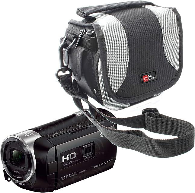 DURAGADGET Funda Acolchada para Sony FDR-AXP33 / HDR-CX405 / HDR-PJ410 / HDR-PJ620 - con Correas De Transporte Y Trabilla