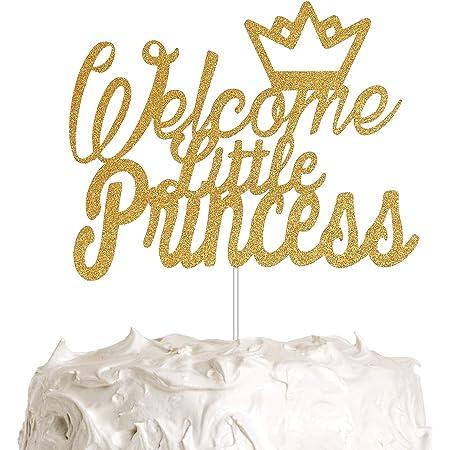 Baby Shower 1st Birthday Sparkle Pink Princess Crown Confetti Die-cut Punch Set of 1 dozen Cupcake Topper
