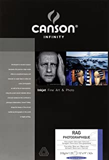 Legion Canson Infinity Digital Paper, Rag Photographique 310G, 13 X 19 inches, 25 Sheets A3 (F11-RPH310131925)