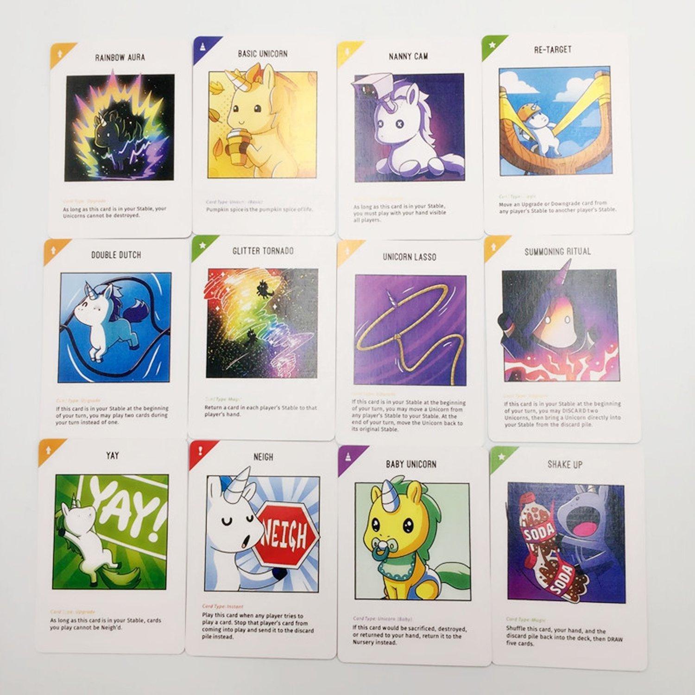 Unicornios inestables Colección de juegos de cartas Juega divertido Tarjetas de fiesta Destop Gaming Cards para niños adultos Caja negra Estilo de versión: Amazon.es: Juguetes y juegos
