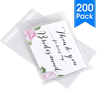 """Pack It Chic - 4"""" X 6"""" (200 Pack) Clear Resealable Cellophane Cello Bags - Fits 4X6 Prints, Photos, A1 Cards, Envelopes - Self Seal (More Sizes Available)"""