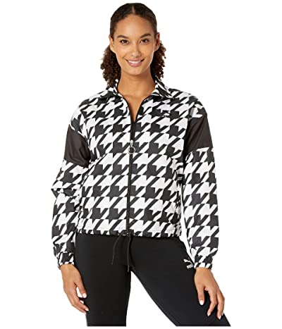 PUMA Trend All Over Print Woven Jacket (Black Houndstooth) Women
