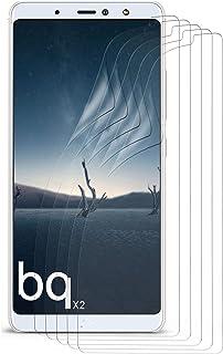 MoEx® kristallklar HD skyddsfilm kompatibel med BQ AQUARIS X2 | displayskyddsfilm reptålig snabbt osynlig, ultraklar 5 x s...