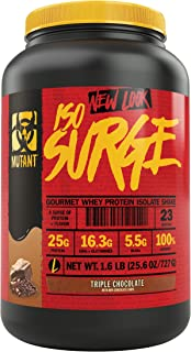 Mutant ISO Surge Whey Protein Powder Acts Fast to Help Recover, Build Muscle, Bulk and Strength, Uses Only High Quality Ingredients, 1.6 lb - Triple Chocolate