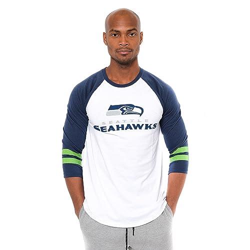 eab0e5033 ICER Brands NFL Men s T-Shirt Raglan Baseball 3 4 Long Sleeve Tee Shirt