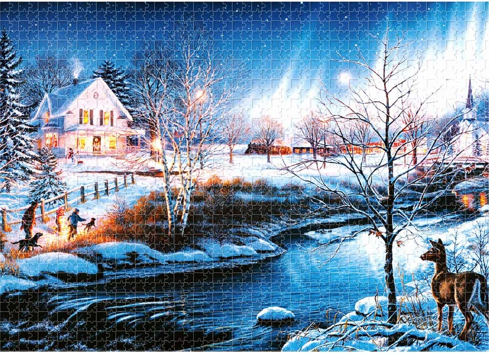 Jigsaw Puzzles 1000 Pieces for Adults and Teens-27.5/×19.6-Castle of Wolf Puzzle-Premium Quality Puzzle Pieces-High Definition Printing-Vivid Color-Reference Poster-Gift Box-Family Game Toy