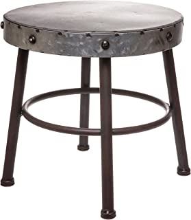 Red Co. Antique Metal Milking Stool - Display Stand,10