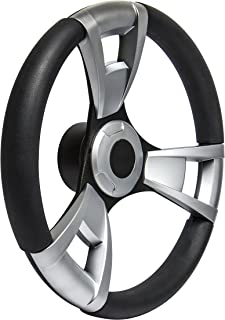 SeaStar Navigator SW60100P Steering Wheel, Navigator 13-1/2 inch, Brushed Inserts, 3 Spoke Equidistant