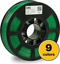 KODAK 3D printer filament ABS GREEN color, +/-  0.03 mm, 750g (1.6lbs) Spool, 1.75 mm. Lowest moisture premium filament in Vacuum Sealed Aluminum Ziploc bag with Silica Gel. Fit Most FDM Printers