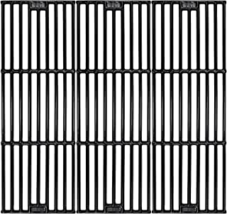 Hisencn Porcelain Coated Cast Iron Cooking Grates Replacement for Chargriller 2121, 2123, 2222, 2828, 3001, 3030, 3725, 4000, 5050, 5252 , Set of 3, 19 3/4