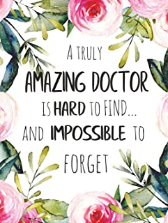 A truly amazing doctor is hard to find POSTER A3 Great Doctor Appreciation Gift Retirement Leaving Goodbye Wall Art Print