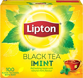 Lipton Flavoured Black Tea Bags - Mint, 100s