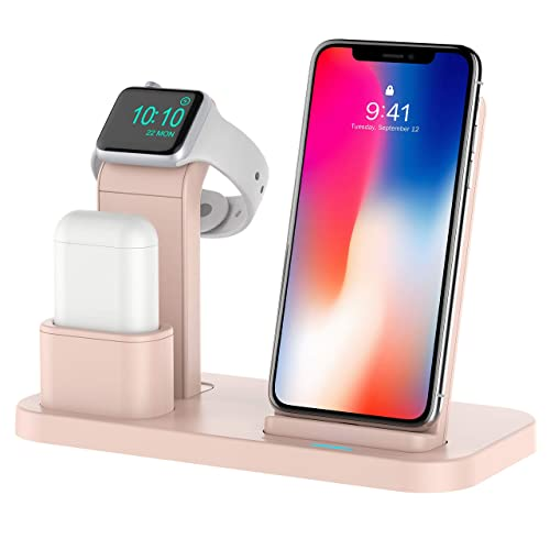 e8a212b1c5c Conido 3 in 1 Charging Stand Compatible for Apple Watch and AirPods Phone  Wireless Charger Charging
