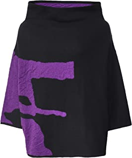 Moyuru Women's Oversized Wide Neck Jumper Black