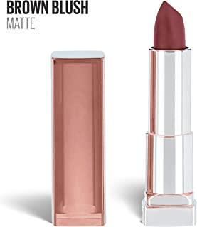Maybelline New York Color Sensational Nude Lipstick Matte Lipstick, Brown Blush, 0.15 ounce