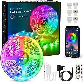 Ruban LED 6M Bande LED RGB Multicolore App Contrôle, Led Ruban avec Télécommande à 40 Touches, Synchroniser avec Rythme de...