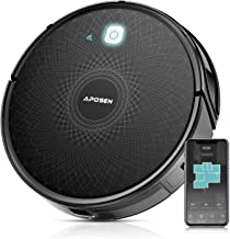 Robot Vacuum Cleaner, APOSEN Smart WiFi Robot Vacuum with Mapping Technology, 2100Pa Strong Suction, Super Thin Quiet, Automatic Vacuum Cleaner Robot for Pet Hair, Floor, Carpet, Works with Alexa