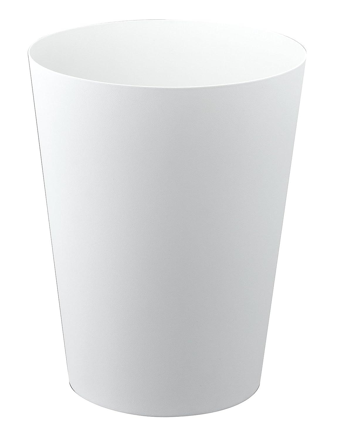 聡明無秩序再撮り山崎実業 ゴミ箱 トラッシュカン タワー 丸型 ホワイト 2917