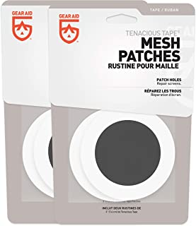 "Gear Aid Tenacious Tape Mesh Patches for Tent and Bug Screen Repair, 3"" Rounds, 2 Pack"