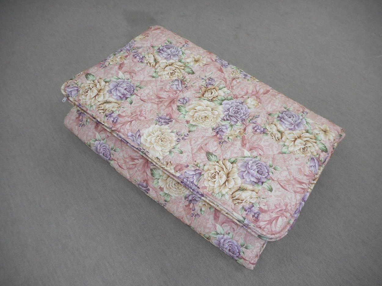 緊張する周術期近代化する丸洗いOK 脱着式 シングル3層合繊敷ふとん 抗菌洗濯耐性 (ピンク)