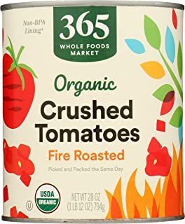 365 by Whole Foods Market, Organic Canned Tomatoes, Crushed - Fire Roasted, 28 Ounce