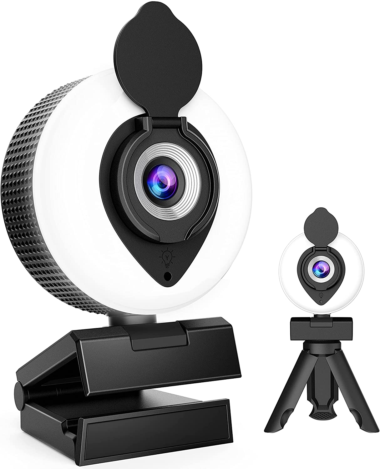 1080P Web cam HD Webcam with Weekly update outlet Cover Ring Light Privacy Built and