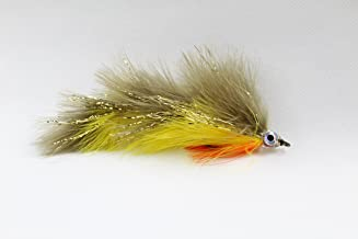Perch Marabou Game Changer Jointed Bass Trout Muskie Pike Fly 4